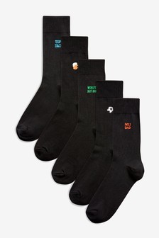 Father's Day Embroidery Socks Five Pack