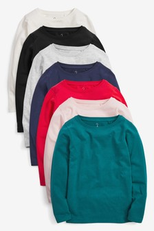 7 Pack Long Sleeve T-Shirts (3-16yrs)