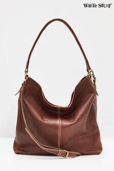 White Stuff Brown Emma Leather Hobo Bag