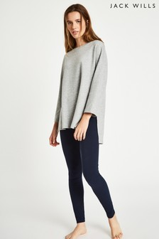 Jack Wills Grey Cut Hem Crew