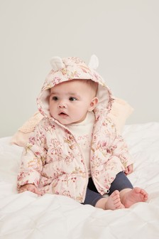 Floral Padded Jacket (0mths-2yrs)