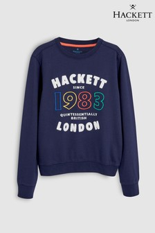 Hackett Kids Logo 1983 Sweatshirt, Blau