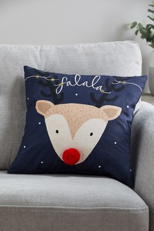 Light-Up Falala Reindeer Cushion