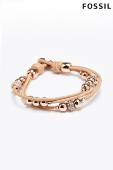 Fossil™ Leather Charm Bracelet