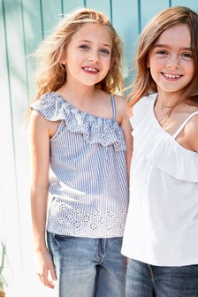 Broderie Ruffle Detailed Vest (3-16yrs)