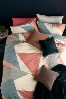 Geo Twist Duvet Cover and Pillowcase Set