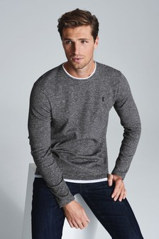 Long Sleeve Mock Layer Crew Neck Top