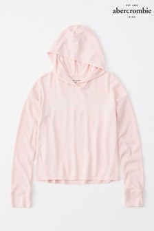 Abercrombie & Fitch Cropped Hooded T-Shirt