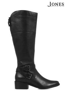 Jones Bootmaker Black Slim Fit Leather Ladies Knee High Boots