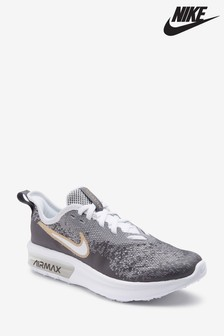 Nike Silver/White Air Max Sequent Youth