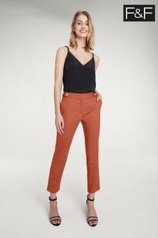 F&F Slim Fit-Hose, orange