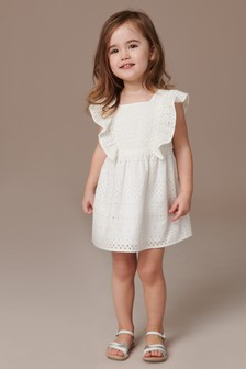 Frill Broderie Dress (3mths-7yrs)