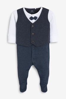 Smart Bow Tie Sleepsuit (0mths-2yrs)
