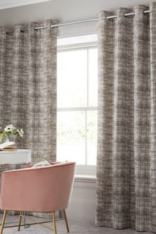 Hamden Texture Eyelet Curtains
