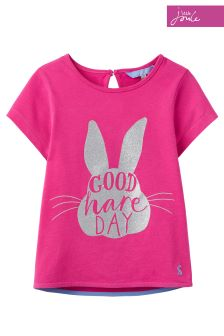 Official Peter Rabbit Movie Collection Joules Pink T-Shirt