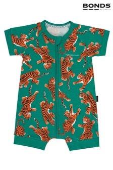 Bonds Green Climbing Tigers Zip Wondersuit Romper