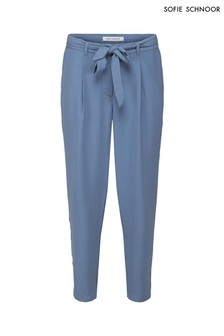 Sofie Schnoor Blue Self Stripe Trouser