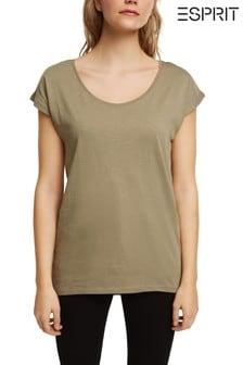Esprit Green T-Shirt Made Of 100% Organic Cotton