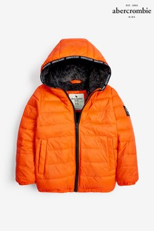 Abercrombie & Fitch Orange Padded Coat