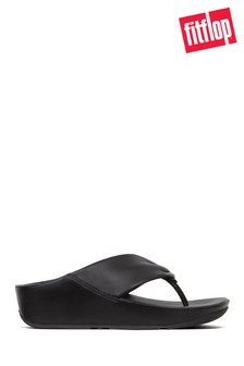 FitFlop™ Black Ruche Twist Grace Toe Post