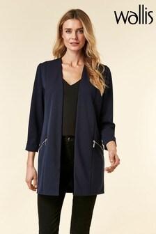 Wallis Blue Longline Jacket