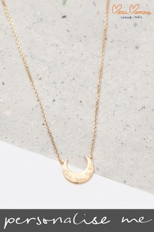 Personalised Moon Necklace by Merci Maman