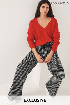Mix/King & Tuckfield Check Wide Leg Trousers
