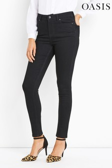 Oasis Black Lily No Back Pocket Stitch Jean