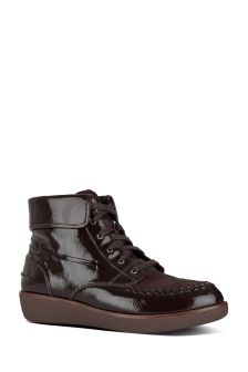 FitFlop™ Black Moccasin Gianna Lace-Up Boot