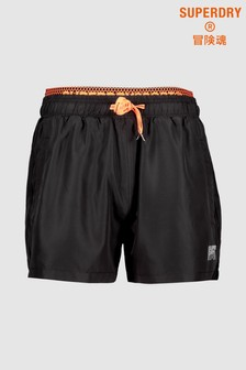 Superdry Black Training Short