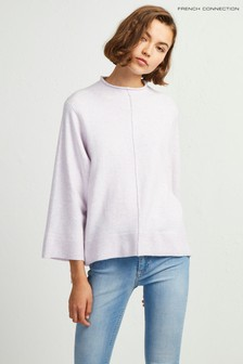 French Connection Lavender High Neck Jumper