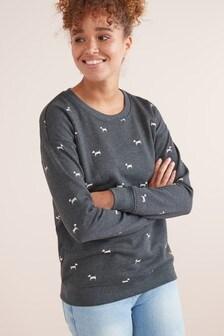 Pullover mit Grafikdruck