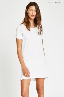 Jack Wills White Raglan T-Shirt