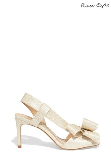 Phase Eight Cream Allie Asymmetric Bow Sandal