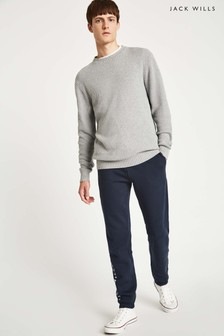Pantalon de jogging Jack Wills Gosworth bleu marine à imprimé graphique