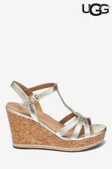UGG® Melissa Gold Cork Wedge