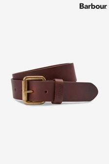 Barbour® Matt Brown Leather Belt