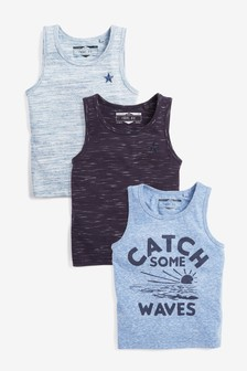 Waves Vests Three Pack (6mths-7yrs)
