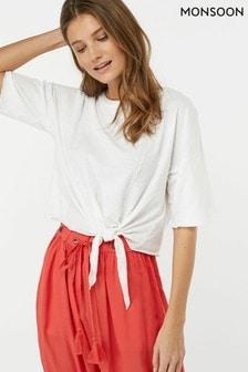 Monsoon Ladies White Eva Jersey T-Shirt
