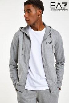 Emporio Armani EA7 Grey Zip Hoody