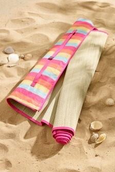Woven Stripe Beach Mat
