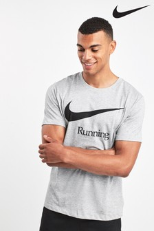 Серая футболка Nike Run Dri-FIT