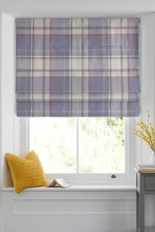 Marlow Woven Check Roman Blind