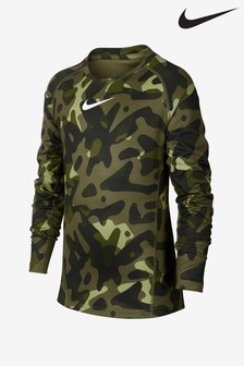 Nike Therma Green Camo Long Sleeve Base Layer