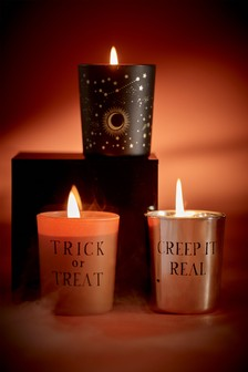 Set of 3 Votive Halloween Candles