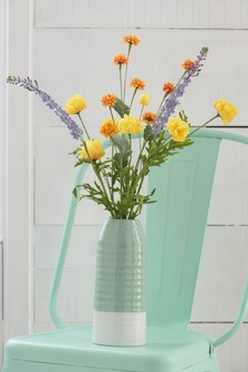 Artificial Floral In Ceramic Bottle