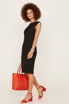 Oasis Black Ria Workwear Dress
