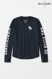 Abercrombie & Fitch Navy Long Sleeve Tee