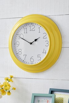 Bright Metal Edge Clock