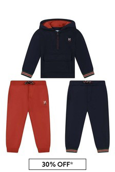 Baby Boys Navy/Red Tracksuit Set